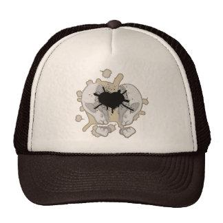 Split skull mesh hat