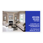 Split Staging with Photo - Blue Double-Sided Standard Business Cards (Pack Of 100)