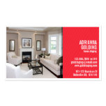 Split Staging with Photo - Red Double-Sided Standard Business Cards (Pack Of 100)