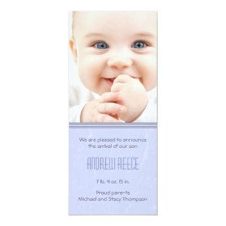 Split Textured Baby Boy Birth Announcement