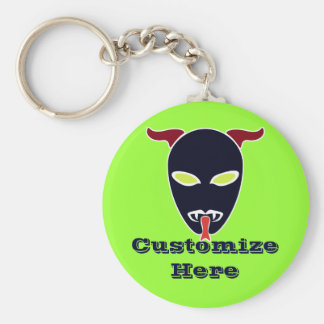 Split Tongue Demon Basic Round Button Keychain