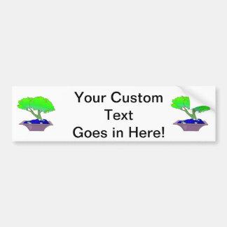 Split trunk bonsai in pot tree graphic.png car bumper sticker