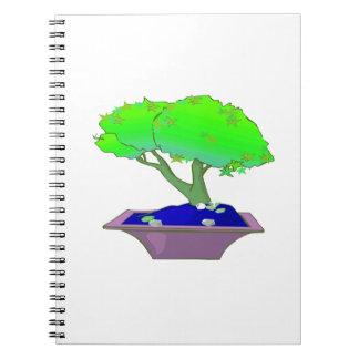 Split trunk bonsai in pot tree graphic.png spiral notebook