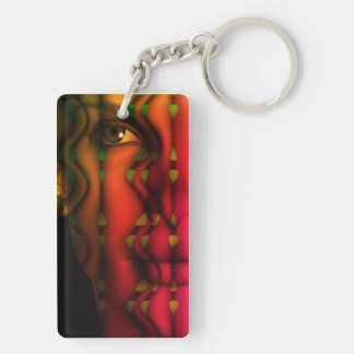 Spliting Spirit / abstract Face Composing Keychain