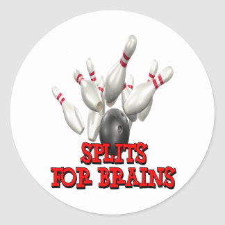 Splits For Brains Bowling Classic Round Sticker