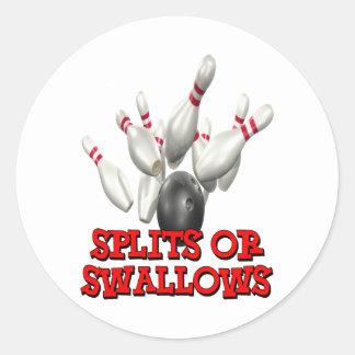 Splits Or Swallows Classic Round Sticker