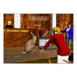 Splitting Hares Greeting Cards