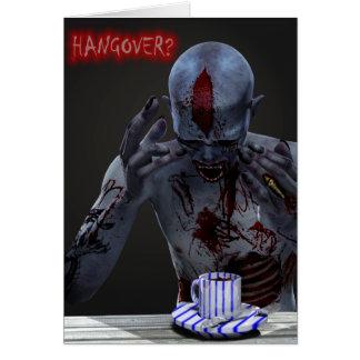 Splitting Head Zombie Hangover Needs Coffee Card
