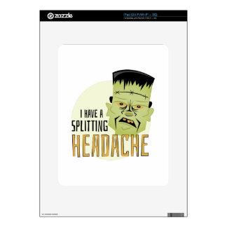 Splitting Headache Decal For iPad