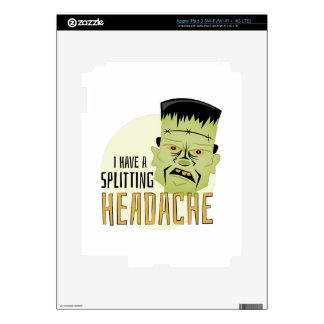 Splitting Headache Skin For iPad 3