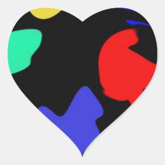 Splodge Pegatina En Forma De Corazón