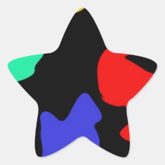 Splodge Pegatina En Forma De Estrella