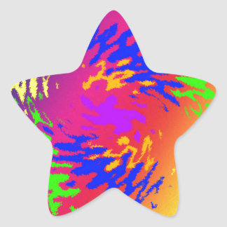 Splodge psicodélico pegatina en forma de estrella