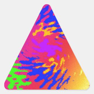 Splodge psicodélico pegatina triangular
