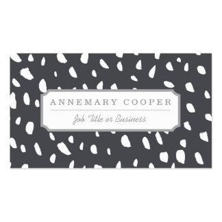 Splotched Dots Pattern Business Card