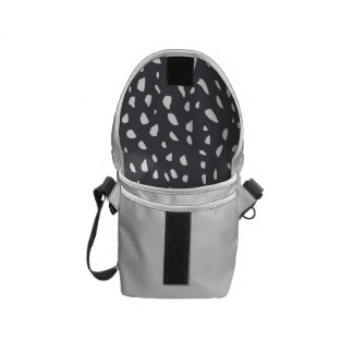 Splotched Dots Pattern Courier Bag