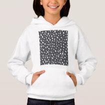Splotched Dots Pattern Hoodie