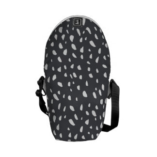 Splotched Dots Pattern Messenger Bag