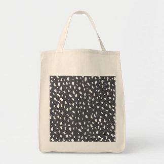 Splotched Dots Pattern Tote Bag