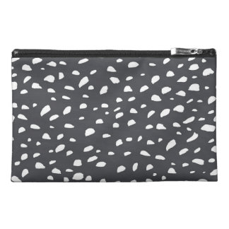 Splotched Dots Pattern Travel Accessory Bags