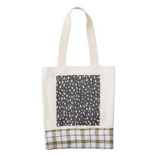 Splotched Dots Pattern Zazzle HEART Tote Bag
