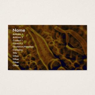 Splotchy gold business card