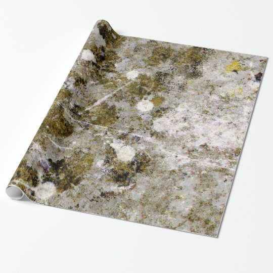 Splotchy Grungy Concrete Wall Wrapping Paper