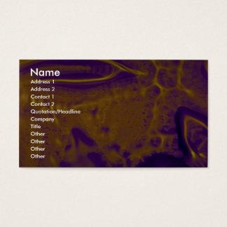 Splotchy orange business card