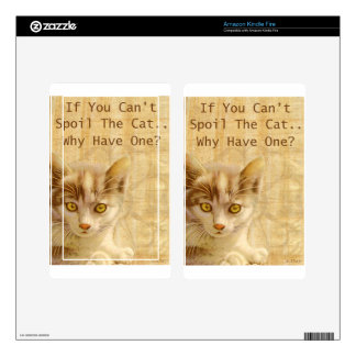 Spoil The Cat Kindle Fire Decals