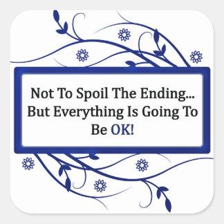 Spoil The Ending Square Sticker