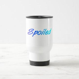 Spoiled (blue) 15 oz stainless steel travel mug