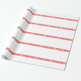 Spoiled Brat Stamp Wrapping Paper