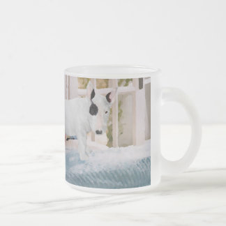 Spoiled? Bull Terrier Puppy . . . Not 10 Oz Frosted Glass Coffee Mug
