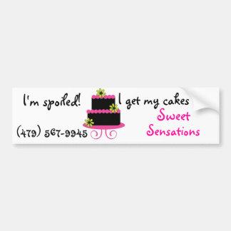 Spoiled Cake Diva bumper sticker Car Bumper Sticker