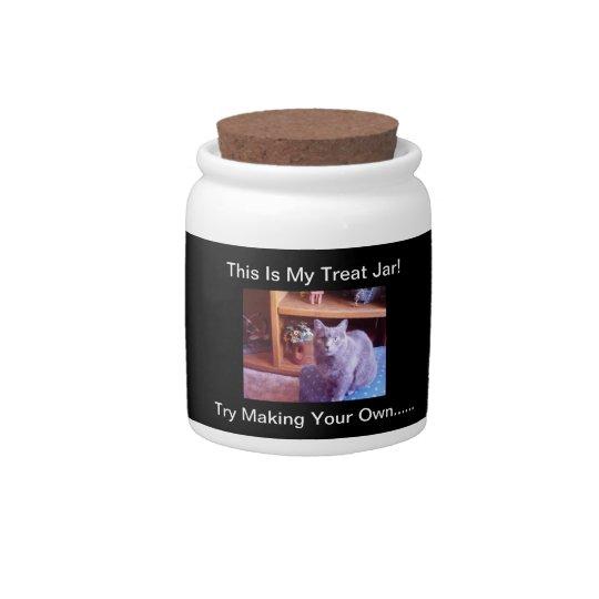 Spoiled Cat Treat Jar (sample) Insert A Photo Candy Jars