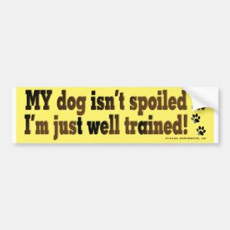 Spoiled Dog Car Bumper Sticker