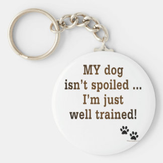 Spoiled Dog Keychain