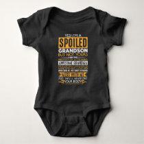 Spoiled Grandson Awesome Grandma Grandchild Baby Bodysuit