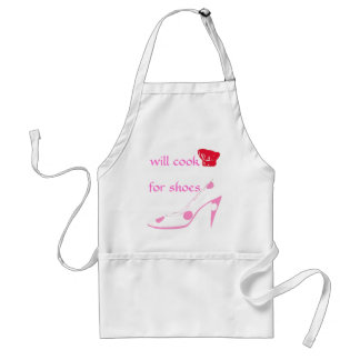 Spoiled High Heel Shoe Lover Cooks for Shoes-pink Adult Apron