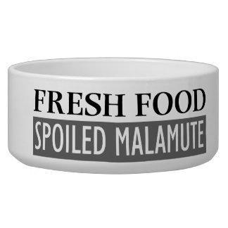 SPOILED MALAMUTE DOG FOOD BOWL