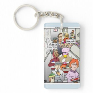 Spoiled Milk Products Keychain