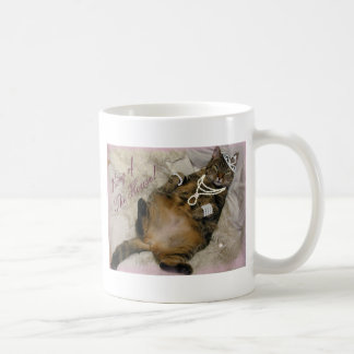 SPOILED PRINCESS CAT LAYING ON BACK COFFEE MUG