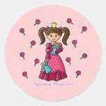 Spoiled Princess Round Sticker
