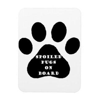 spoiled pugs magnet