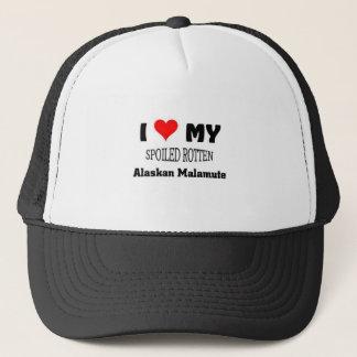 Spoiled rotten Alaskan Malamute Trucker Hat