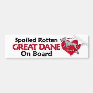 Spoiled Rotten Black Dane UC Bumper Sticker