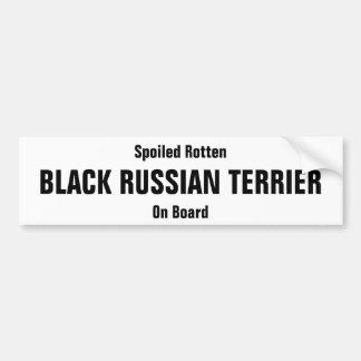 Spoiled Rotten Black Russian Terrier on board Bumper Sticker