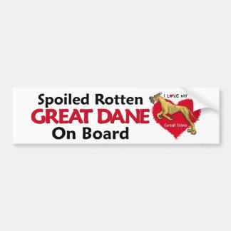 Spoiled Rotten Blrindle Dane Bumper Sticker