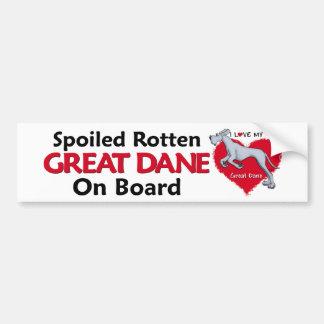 Spoiled Rotten Blue Dane UC Bumper Sticker