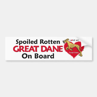 Spoiled Rotten Brindle Dane UC Bumper Sticker
